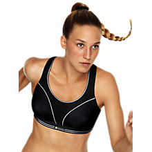 Buy Shock Absorber Run Sports Bra, Black/Silver Online at johnlewis.com