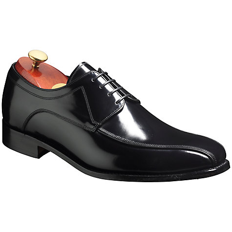 Buy Barker Newbury Leather Derby Shoes, Black Online at johnlewis.com