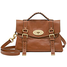 Buy Mulberry Classic Alexa Leather Messenger & Shoulder Handbag Online at johnlewis.com
