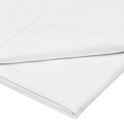 John Lewis Exquisite Genuisa Cotton Flat Sheets, White