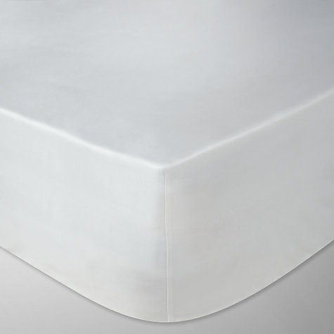 Buy John Lewis Exquisite Genuisa Cotton Fitted Sheets, White Online at johnlewis.com