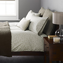 Buy John Lewis Verona Jacquard Bedding, Soft Mocha Online at johnlewis.com