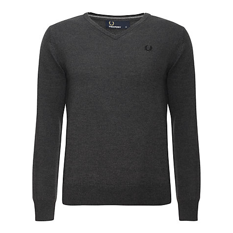 Buy Fred Perry Merino V-Neck Jumper Online at johnlewis.com