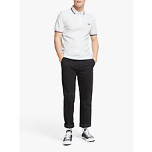 Buy Fred Perry Twin Tipped Slim Fit Polo Shirt, White/Red/Navy Online at johnlewis.com
