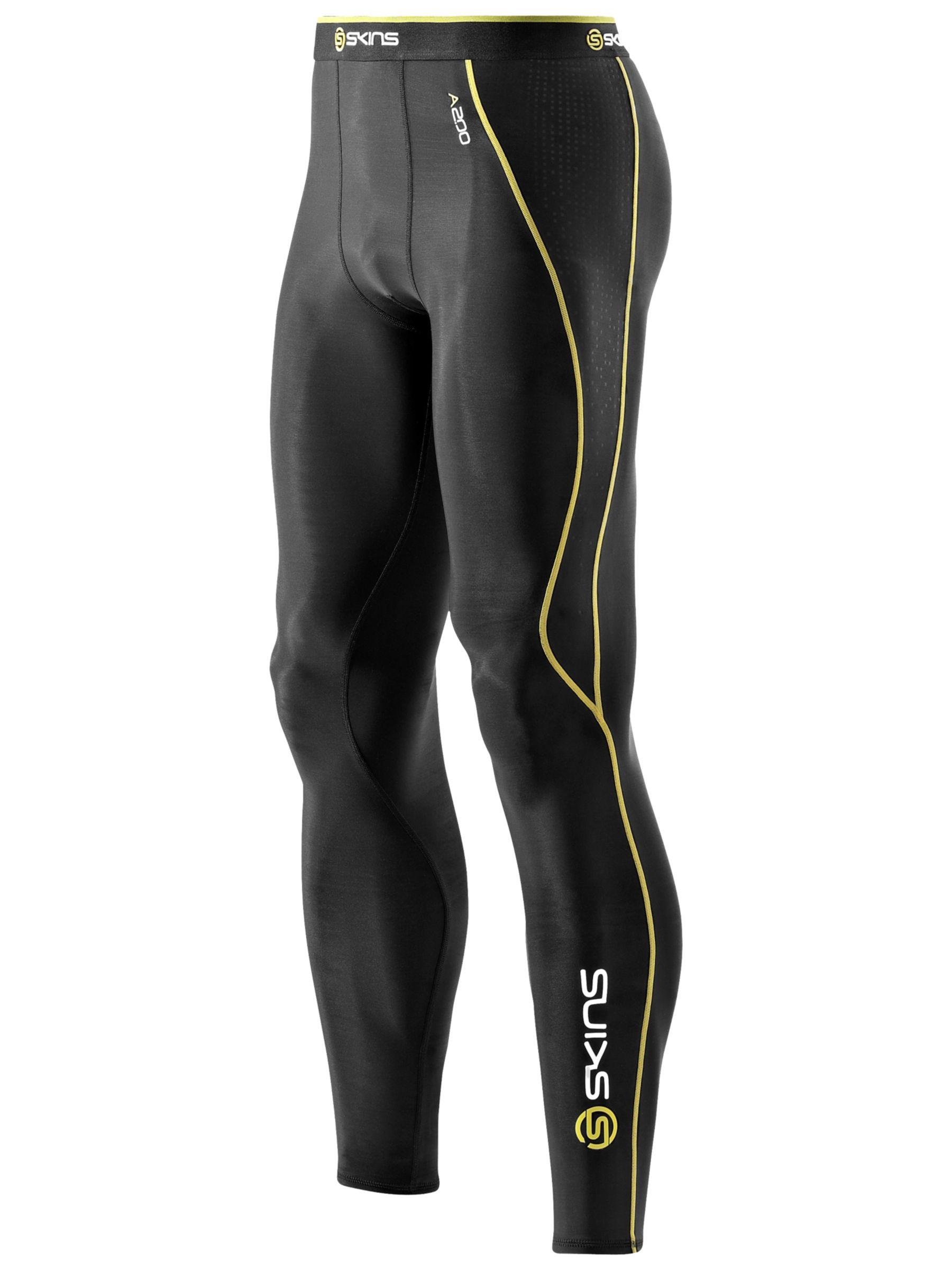 Skins Skins Men's A200 Long Compression Tights, Black