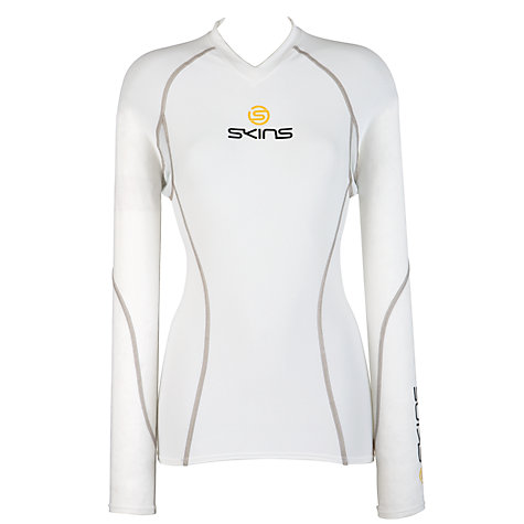 Buy Skins Men's Compression Long Sleeve Top, White Online at johnlewis.com