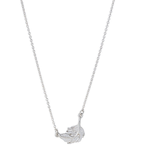 Buy Alex Monroe Little Feather Silver Pendant Necklace Online at johnlewis.com