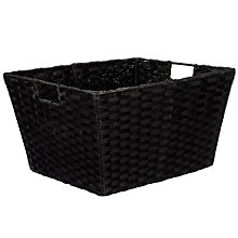 Buy Paper String Storage Baskets, Black Online at johnlewis.com