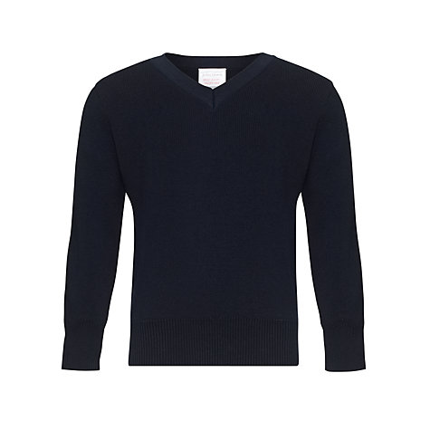 Buy John Lewis V-Neck Pullover, Navy Online at johnlewis.com