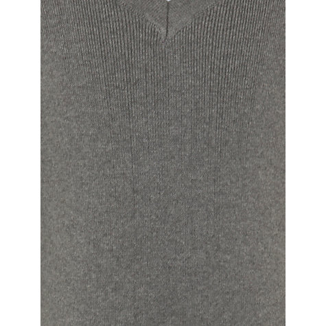 Buy John Lewis Unisex School V-Neck Jumper, Grey Online at johnlewis.com