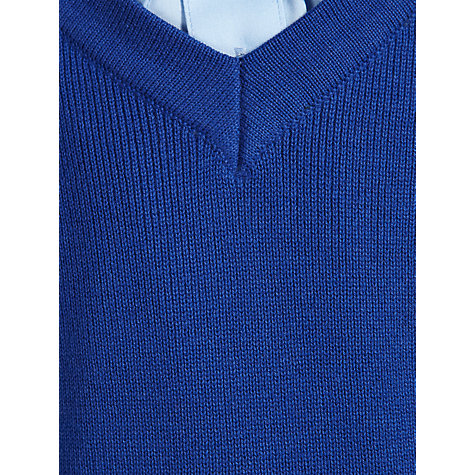Buy John Lewis Unisex School V-Neck Jumper, Royal Blue Online at johnlewis.com