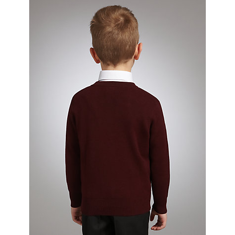 Buy John Lewis Unisex School V-Neck Jumper, Maroon Online at johnlewis.com