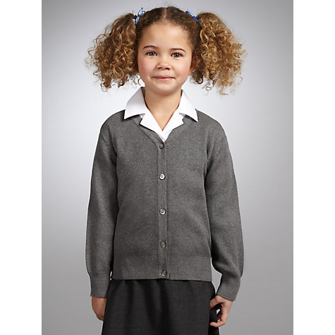 Buy John Lewis V-Neck Cardigan, Grey Online at johnlewis.com