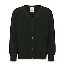 Buy John Lewis V-Neck Cardigan, Bottle Green Online at johnlewis.com