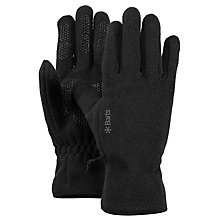 Buy Barts Fleece Gloves, Black Online at johnlewis.com