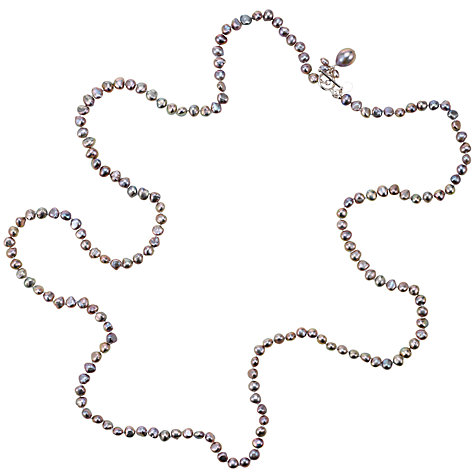 Buy Claudia Bradby Drop Pearl Rope Necklace Online at johnlewis.com