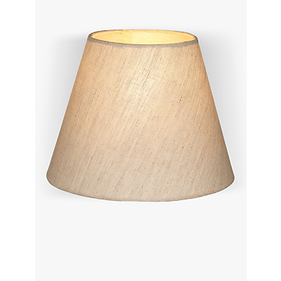 John Lewis Samantha Tapered Shade, Natural Linen