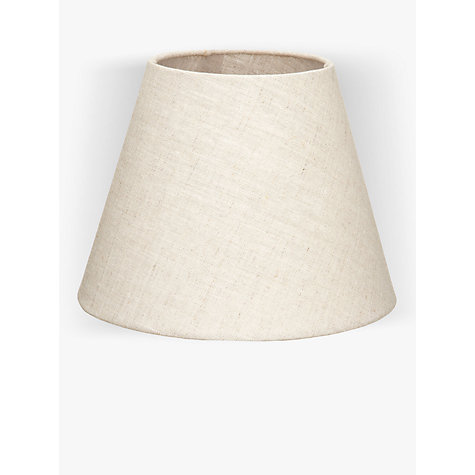 Buy John Lewis Samantha Tapered Shade, Natural Linen Online at johnlewis.com