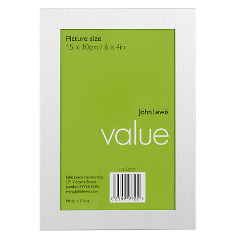 Buy John Lewis Value Brushed Aluminium Photo Frames Range, Silver Online at johnlewis.com