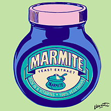 Buy Marmite On Light Green Print Online at johnlewis.com