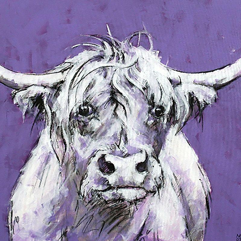 Bull On Purple Print, Frameless 98652