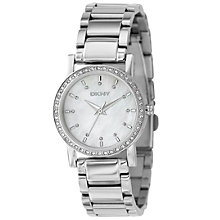 Buy DKNY NY4791 Women's Diamond Round Dial Bracelet Watch Online at johnlewis.com