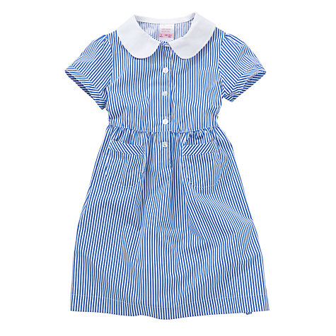 Buy John Lewis School Striped Summer Dress, Blue Online at johnlewis.com