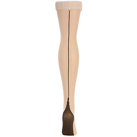 Buy Jonathan Aston Contrast Seam And Heel Hold Ups Online at johnlewis.com