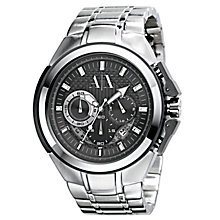 Buy Armani Exchange AX1039 Men's Black Round Watch Online at johnlewis.com