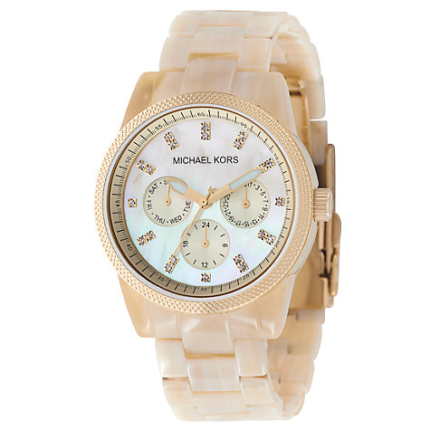 Buy Michael Kors MK5039 Women's Horn Acrylic Watch Online at johnlewis.com