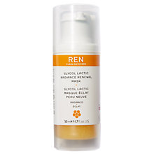 Buy REN Glycolactic Skin Renewal Peel Mask 50ml Online at johnlewis.com