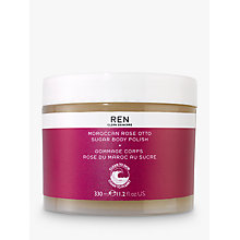 Buy REN Moroccan Rose Otto Sugar Polish 330ml Online at johnlewis.com
