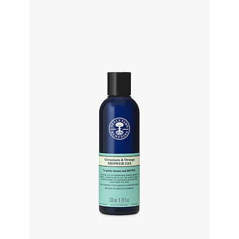 Buy Neal's Yard Geranium & Orange Shower Gel, 200ml Online at johnlewis.com