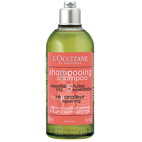 Buy L'Occitane Repairing Shampoo for Dry & Damaged Hair, 300ml Online at johnlewis.com