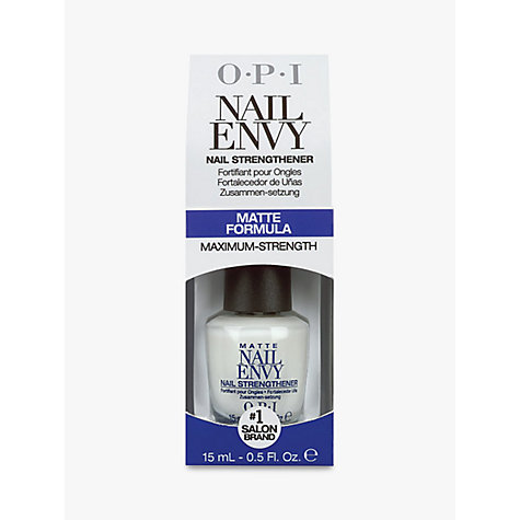 Buy OPI Matte Nail Envy Strengthener, 15ml Online at johnlewis.com