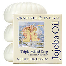Buy Crabtree & Evelyn Jojoba Oil Triple Milled Soap, 3 x 100g Online at johnlewis.com