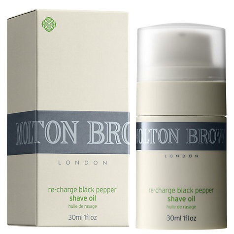Buy Molton Brown Re-Charge Black Pepper Shave Oil, 30ml Online at johnlewis.com