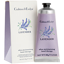 Buy Crabtree & Evelyn Lavender Hand Therapy Cream, 100ml Online at johnlewis.com