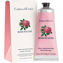 Buy Crabtree & Evelyn Rose Water Hand Therapy Cream, 100ml Online at johnlewis.com