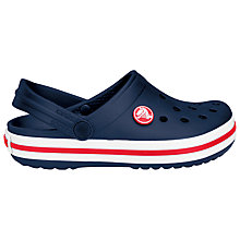 Buy Crocs Children's Crocband Clogs, Navy Online at johnlewis.com