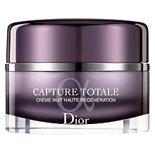 Buy Dior Capture Totale Intensive Night Restorative Rich Creme, 50ml Online at johnlewis.com