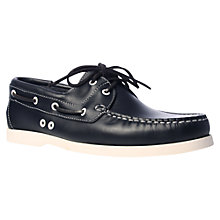 Buy KG by Kurt Geiger Sorrento Boat Shoes, Navy Online at johnlewis.com