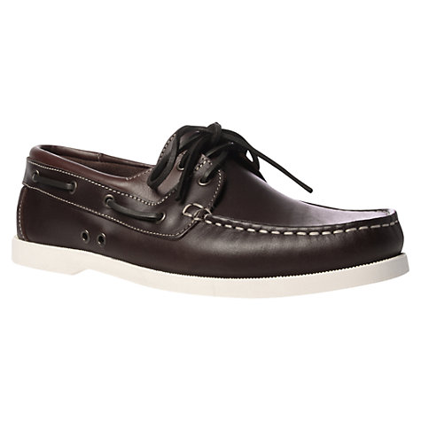 Buy KG by Kurt Geiger Sorrento Boat Shoes, Brown Online at johnlewis.com