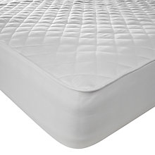 Buy John Lewis New Cotton Quilted Mattress Protector, Depth 32cm Online at johnlewis.com