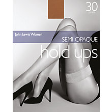 Buy John Lewis 30 Denier Semi-Opaque Hold-Ups Online at johnlewis.com
