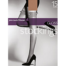 Buy John Lewis Gloss Stockings Online at johnlewis.com