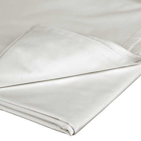 Buy John Lewis Faitrade Organic Cotton Flat Sheets, White Online at johnlewis.com