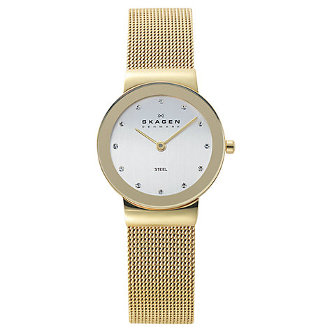 Buy Skagen 358SGGD Women's Gold Strap Mesh Watch Online at johnlewis.com
