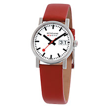 Buy Mondaine A6693030511SBC Unisex Evo Big Date Analogue Leather Strap Watch Online at johnlewis.com