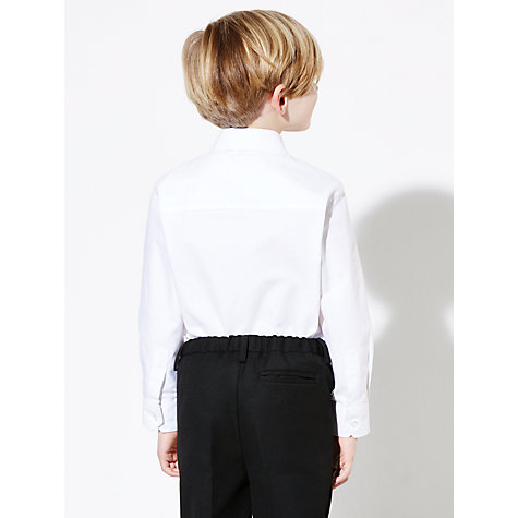 Buy John Lewis Boys' Oxford Long Sleeved School Shirt, White Online at johnlewis.com